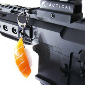 salmon Sushi Charm Mount key chain holder